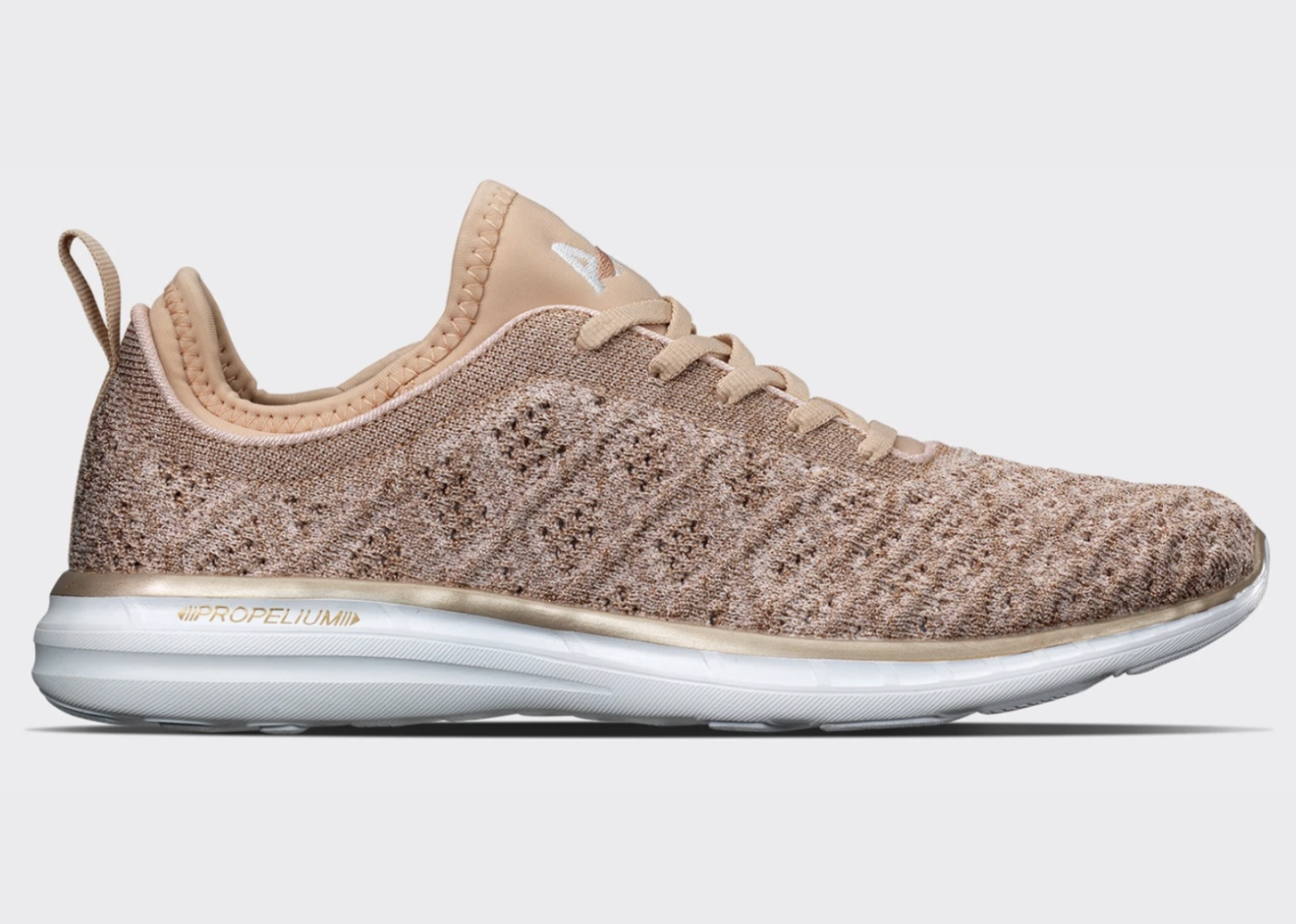 Health + Fitness Holiday Gift Guide - APL TechLoom Shoes Rose Gold